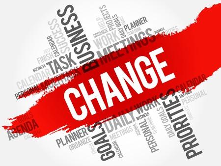Changer mot concept nuage d'affaires Vecteurs