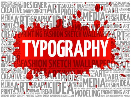 returning: TYPOGRAPHY word cloud, creative business concept background Illustration