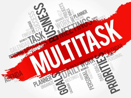 multitask: MULTITASK word cloud, business concept background