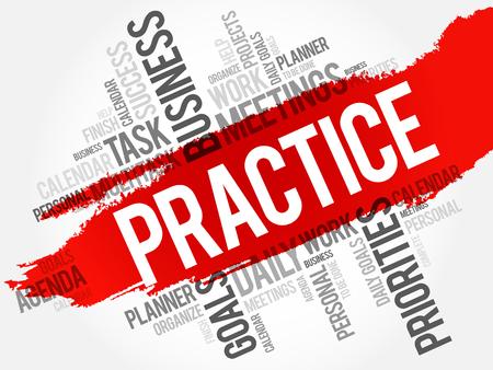 proficiency: Practice word cloud, business concept