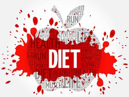 lbs: Diet apple word cloud concept