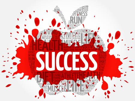 success concept: Success apple word cloud concept Illustration