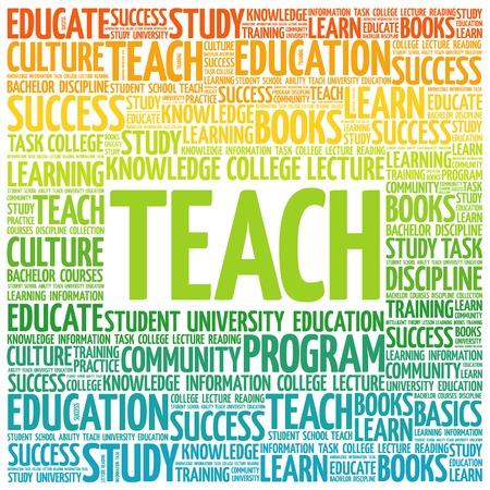 education concept: TEACH word cloud, education concept Illustration
