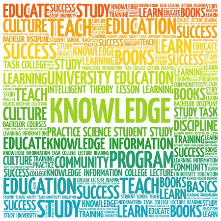 education concept: KNOWLEDGE word cloud, education concept Illustration