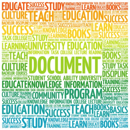 DOCUMENT word cloud, business concept background