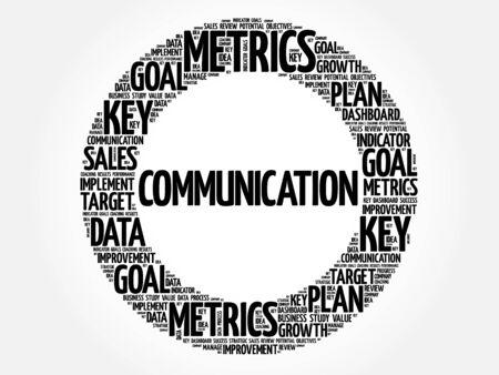 business communication: Communication circle word cloud, business concept background Illustration