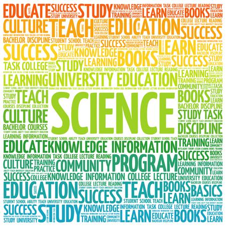 education concept: SCIENCE word cloud, education concept Illustration