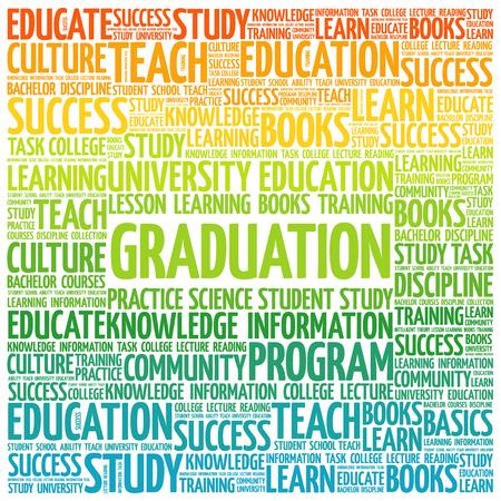 education concept: GRADUATION word cloud, education concept