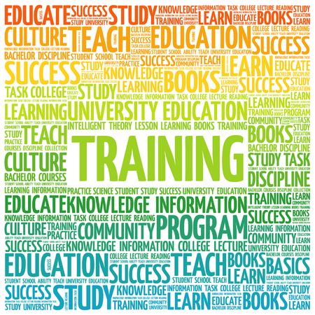 TRAINING word cloud, education concept