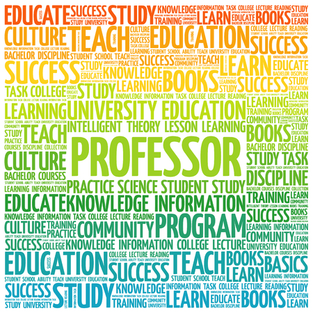 apprenticeship: Professor word cloud, education concept background Illustration