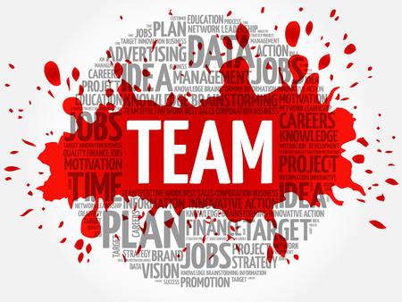 business team: TEAM word cloud, business concept