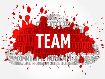 teaming: TEAM word cloud, business concept background Illustration