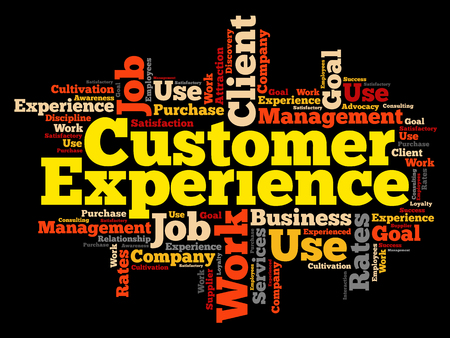 advocacy: Customer Experience word cloud, business concept background