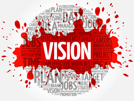 visionary: VISION word cloud, business concept