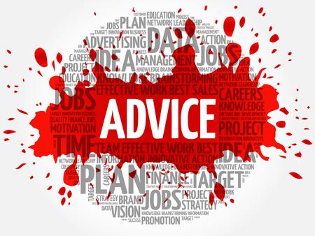 Advice word cloud, business concept Illustration