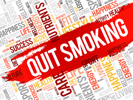 quit smoking: Quit Smoking word cloud, health concept