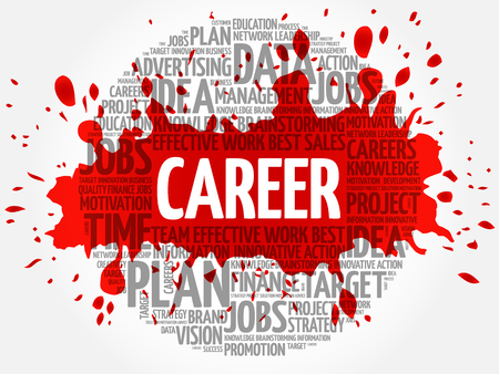 Career word cloud, business concept