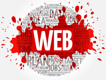 word: WEB word cloud, business concept