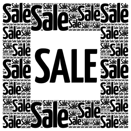 business collage: SALE word cloud collage, business concept background