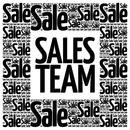 sales team: Sales Team words cloud, business concept background