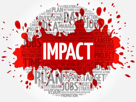 Impact word cloud, business concept Illustration