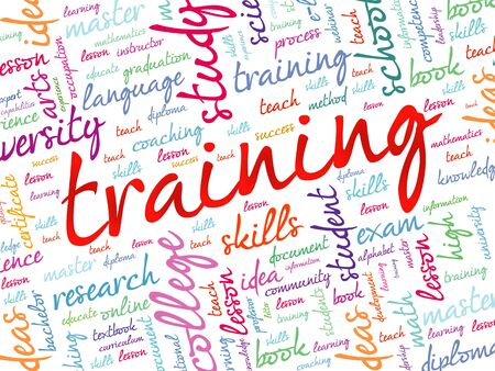 situational: TRAINING word cloud, education concept background