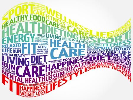 Health care word cloud background, health concept Illustration