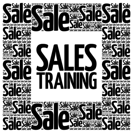 words cloud: Sales Training words cloud, business concept background