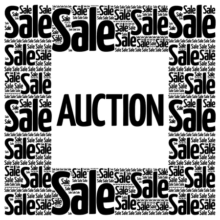 barter: AUCTION words cloud, business concept background