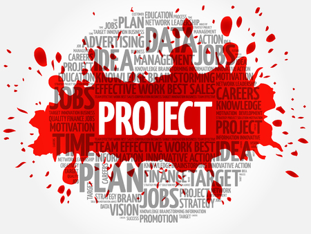 PROJECT word cloud, business concept