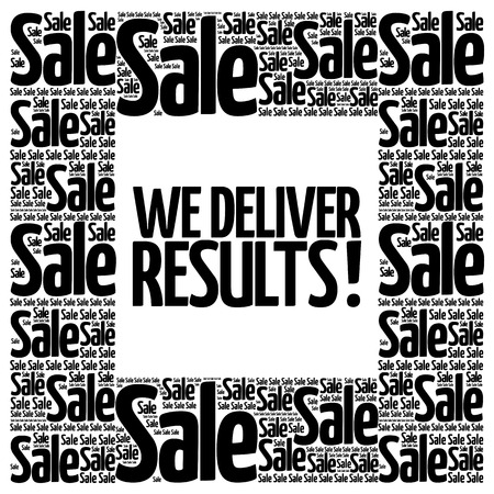 trustworthy: We deliver results ! words cloud, business concept background