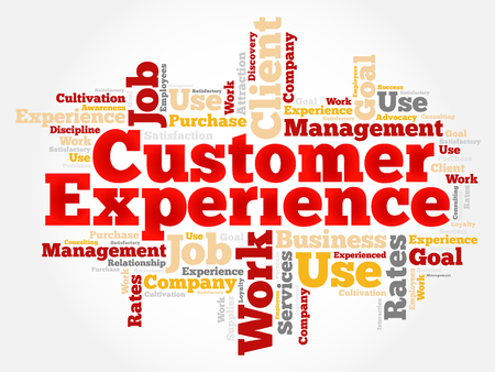 job satisfaction: Customer Experience word cloud, business concept background