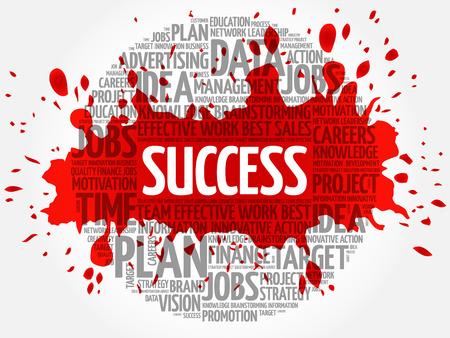 completion: Success word cloud, business concept