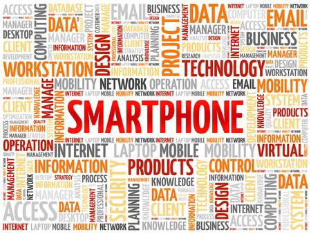 Smartphone word cloud concept