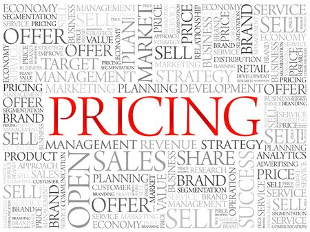 proportionate: Pricing word cloud, business concept background Illustration