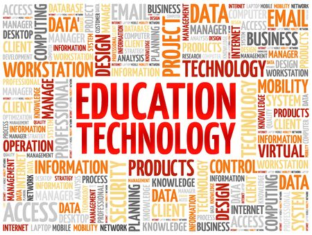 studing: Education Technology word cloud concept Illustration