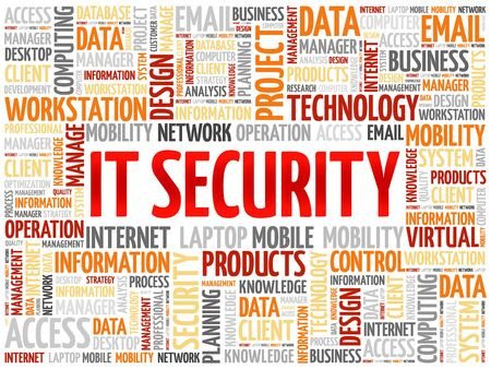 malicious software: IT Security word cloud concept