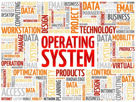 operating system: Operating System word cloud concept Illustration