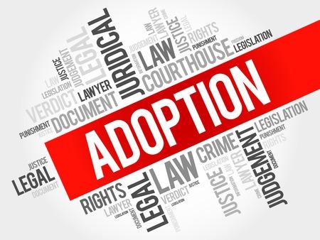 Adoption word cloud concept Illustration