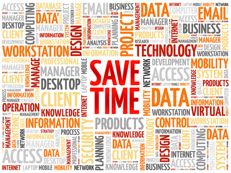 save time: Save Time word cloud concept Illustration