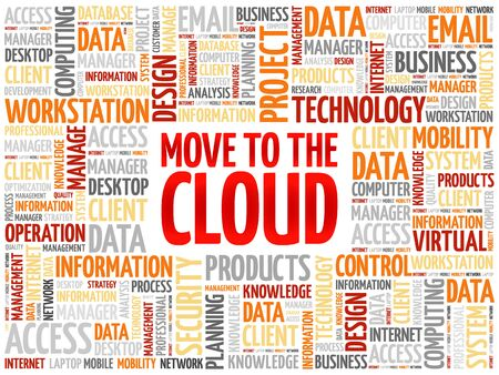 remote backup service: Move to the Cloud word cloud concept