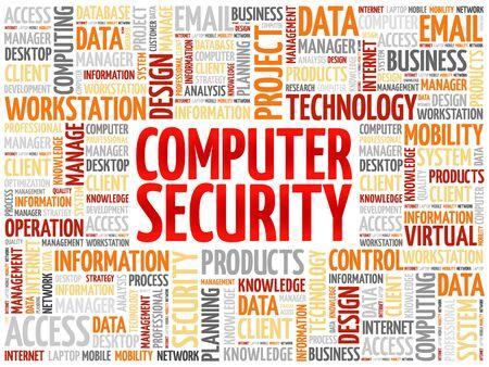 vulnerable: COMPUTER SECURITY word cloud concept