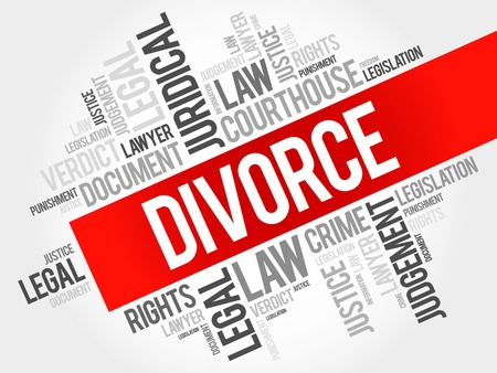 dissolution: Divorce word cloud concept