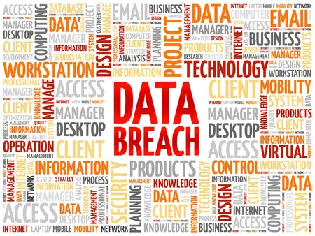 breach: Data Breach word cloud concept