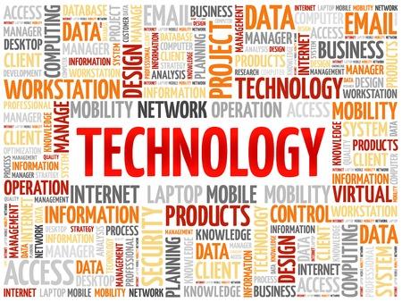 cloud technology: Technology words cloud, business concept Illustration
