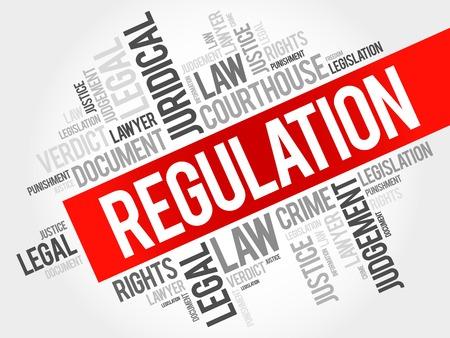 Regulation word cloud concept