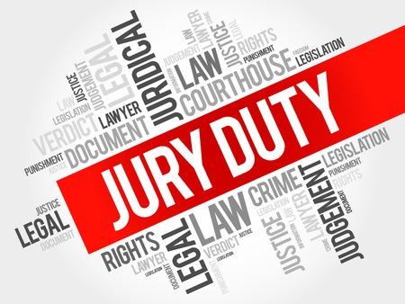 juror: Jury Duty word cloud concept Illustration