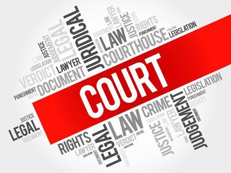 Court Wort Cloud-Konzept