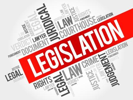 Legislation word cloud concept