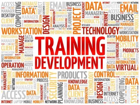 training and development: Training development word cloud concept